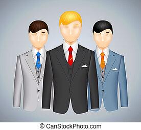 三組, 衣服, 商人
