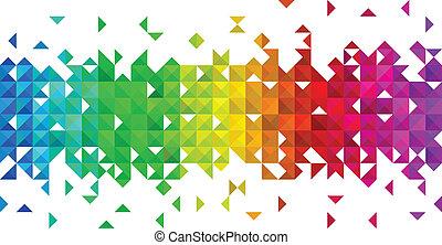 三角形, 馬賽克, 背景