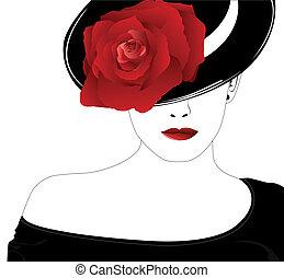 上升, 婦女, 帽子
