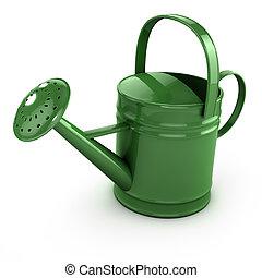上水, 綠色, 罐頭, 3d