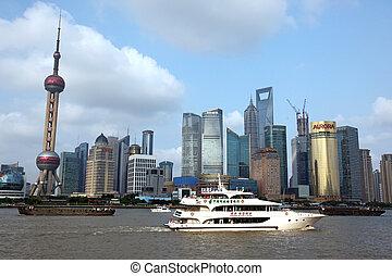 上海, 15:, 15, 浦東, 2012, 吸引, 十, -, 看法, 六月, 地平線, 一, 瓷器, juney, bund, 頂部, 上海