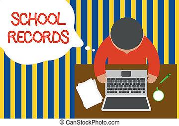上面, 相片, 膝上型, 桌子, 傳記, 資訊, 文件, records., 杯子, 年輕, 寫, 筆記, 咖啡, 事務, 坐, 顯示, 大約, 孩子, 人, 學校, kept, showcasing, pen., 看法