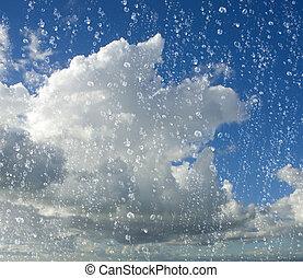 下降, 雨