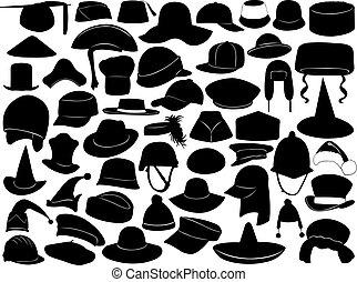 不同, 種類, 帽子