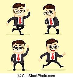 不同, 集合, illustration., 事務, poses., 矢量, 人