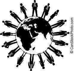 世界, 人們, 勞工, 商業組