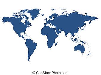 世界, 被隔离, 地圖