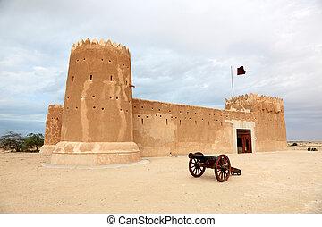 中間, zubarah, 東方, 卡塔爾, 堡壘