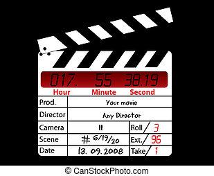 主任, 電影, 黑色, clapperboard, 背景