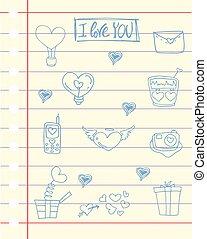 主題, 紙, 愛, 插圖