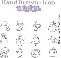 主題, 聖誕節, 插圖, 圖象