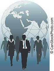 事務, 全球, emergent, 隊, 世界, 資源