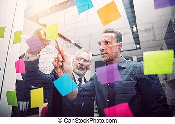 事務, 成功, 人們, 一起。, 概念, 工作, 配合, 合作