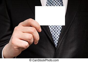 事務, 藏品, 衣服, 商人, 白色, 卡片