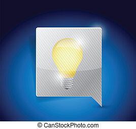 事務, bubble., 光, 想法, 燈泡, 消息