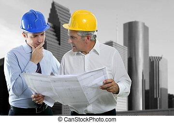 二, 建筑師計划, 隊, hardhat, 專門技能, 工程師