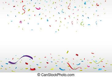 五彩紙屑, 鮮艷, 慶祝