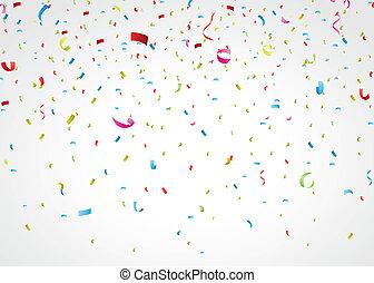 五彩紙屑, 鮮艷, 白色