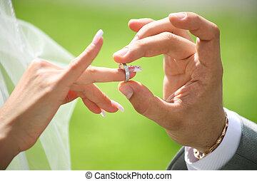 交換, 戒指, 婚禮