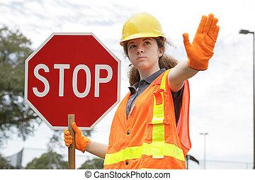 交通, 指引, 停止