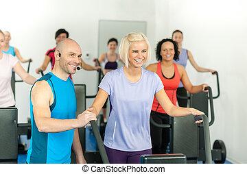 人們, 主要, 體操, 健身指導者, 練習