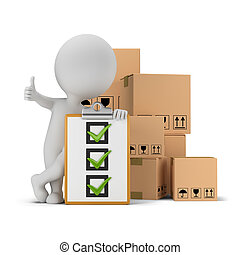 人們, 清單, -, 箱子, 小, 3d