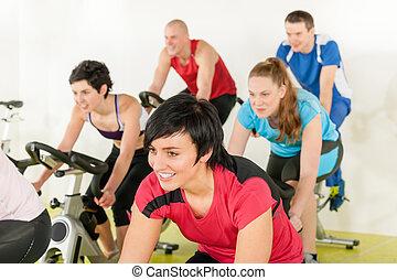人們, 自行車, 健身, 體操, 組