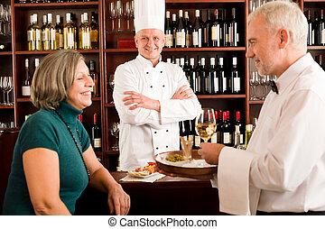 人員, 經理, 酒 酒吧, 餐館