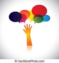 人, 也, 概念, 悲痛, 幫助, 人們, 這, 愛, 摘要, 尋找, 矢量, 請求, 等等, 或者, 圖表, 幫助, 代表, 關心, 支持, soccour, assistance.