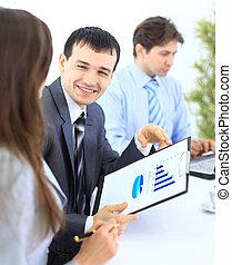 人 事務, 人員, -, 辦公室, 組, 會議
