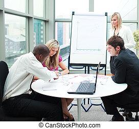人 事務, 工作, 會議, 一起