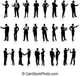 人 事務, 集合, 超級, 黑色半面畫像