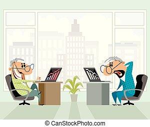 人, 二, 辦公室