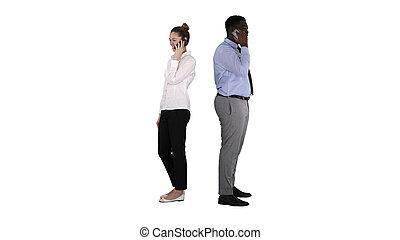 人 婦女, 背, makin, african american, 年輕, 站立