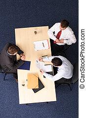 人, 接見, 事務, 工作, -, 三, 會議