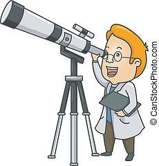 人, 望遠鏡