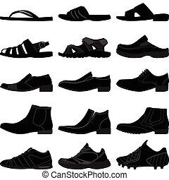 人, 男性, 鞋類, 人, 鞋子
