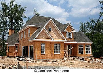 仍然, 新, 建設, 家, 在下面