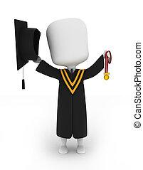 他的, 向上, 畢業生, 高, 藏品, 獎章