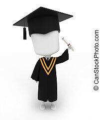 他的, 畢業証書, 提高, 人