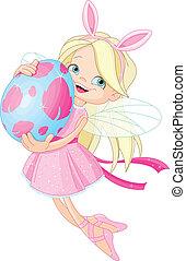仙女, 復活節, 漂亮, 蛋, 飛行