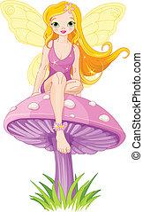 仙女, 漂亮, 蘑菇