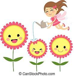仙女, 花, 園藝