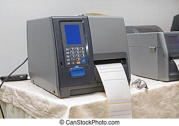 代碼, 酒吧, 打印机