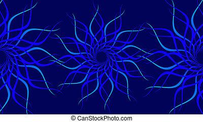 仿造, 旋轉, 鮮艷, 波浪, 背景。, 摘要, 藍色螺旋