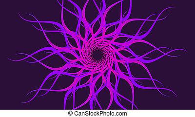 仿造, 鮮艷, 旋轉, 波浪, 紫色, 背景。, 摘要, 螺旋