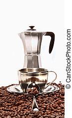 休息, 豆, 過濾器, 杯子, 咖啡