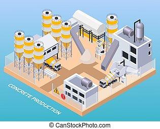 作品, 混凝土, 生產, 工廠