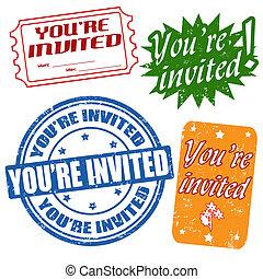 你是, 郵票, 邀請