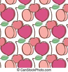 你, 圖案, 水果, seamless, 設計